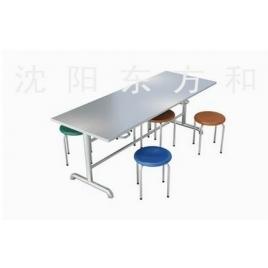 挂凳式六人快餐桌椅